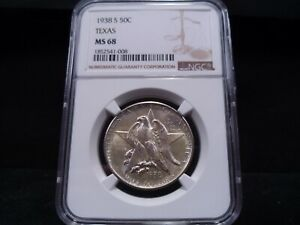 Click now to see the BUY IT NOW Price! 1938 S MS68 TEXAS SILVER COMMEMORATIVE NGC CERTIFIED SUPERB GEM   BRIGHT WHITE