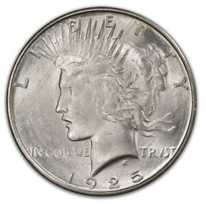 Click now to see the BUY IT NOW Price! 1925 S $1 PEACE DOLLAR PCGS MS64   CAC  2135 3