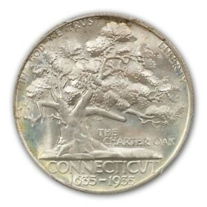 Click now to see the BUY IT NOW Price! CONNECTICUT 1935 50C SILVER COMMEMORATIVE PCGS MS67