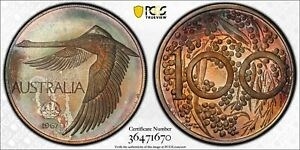 Click now to see the BUY IT NOW Price! 1967 AUSTRALIAN SWAN DOLLAR OR GOOSE PCGS MS68 EQUAL TOP POP COIN 9/0