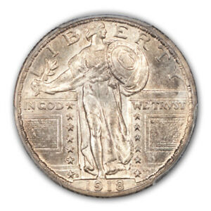 Click now to see the BUY IT NOW Price! 1918 D 25C STANDING LIBERTY QUARTER PCGS MS65FH