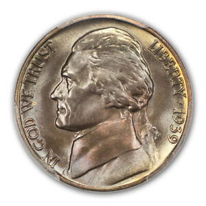 Click now to see the BUY IT NOW Price! 1939 D 5C REVERSE OF 1940 JEFFERSON NICKEL PCGS MS68FS