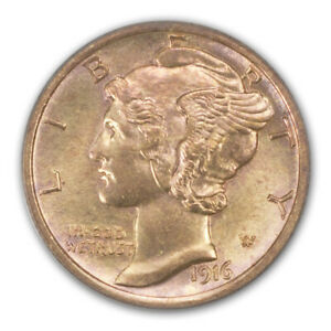 Click now to see the BUY IT NOW Price! 1916 D 10C MERCURY DIME PCGS MS63FB