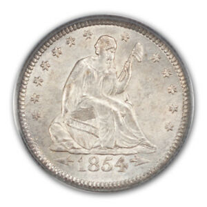 Click now to see the BUY IT NOW Price! 1854 O 25C ARROWS LIBERTY SEATED QUARTER PCGS MS63