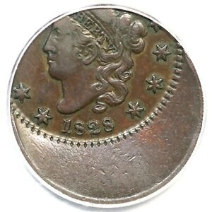 Click now to see the BUY IT NOW Price! 1828 N 10 PCGS VF 35 35  OFF CENTER MATRON OR CORONET HEAD LARGE CENT COIN 1C