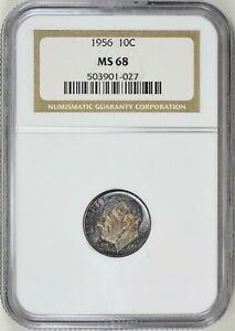 Click now to see the BUY IT NOW Price! 1956 ROOSEVELT DIME   NGC MS 68   TOP POP
