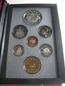 1994 CANADA DOUBLE DOLLAR PROOF SET SILVER $1 LAST RCMP DOG TEAM PATROL BOX COA