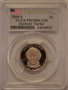 Click now to see the BUY IT NOW Price! 2009 S ZACHARY TAYLOR PCGS PR70 FIRST STRIKE PRESIDENTIAL DOLLAR