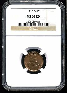 Click now to see the BUY IT NOW Price! 1916 D 1C LINCOLN WHEAT CENT MS66 RED NGC
