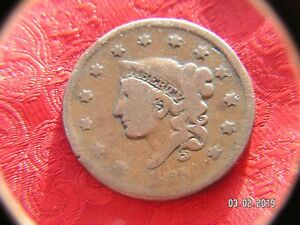 USA  LARGE CENT 1835 CORONET HEAD