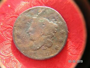 USA  LARGE CENT 1819 CORONET HEAD
