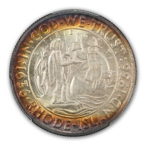 Click now to see the BUY IT NOW Price! RHODE ISLAND 1936 50C SILVER COMMEMORATIVE PCGS MS67   CAC