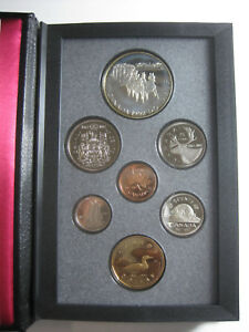 1992 ROYAL CANADIAN MINT PROOF SET W/ 7 COINS 1817 STAGECOACH SERVICE