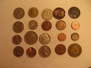 MIXED LOT OF FOREIGN COINS  19