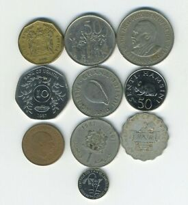 AFRICA   LOT OF 10 DIFFERENT COINS   10 COUNTRIES   GREAT STARTER   LOT AF 95