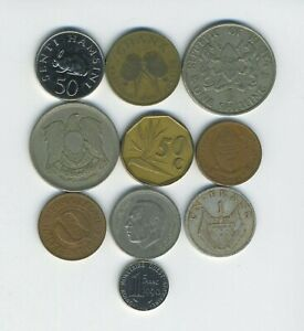 AFRICA   LOT OF 10 DIFFERENT COINS   10 COUNTRIES   GREAT STARTER   LOT AF 96