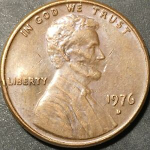 1976 D LINCOLN MEMORIAL CENT STRUCK THROUGH WOOD GRAIN AND PMD? ERROR LMC 1C