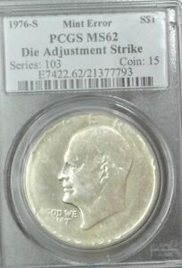 Click now to see the BUY IT NOW Price! 1976 S SILVER PCGS MS62 DIE ADJUSTMENT STRIKE IKE DOLLAR ERROR  UNIQUE