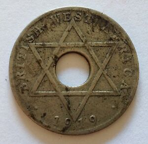 1919 BRITISH WEST AFRICA ONE PENNY  COIN