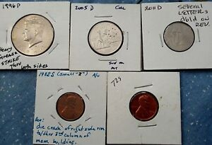 SMALL GROUP OF  4/5  U.S. ERROR COINS              96 P   72 S
