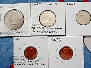 SMALL GROUP OF  4/5  U.S. ERROR COINS               96P   63 D