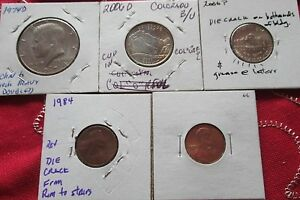 SMALL GROUP OF  4/5  U.S. ERROR COINS          74 D   06