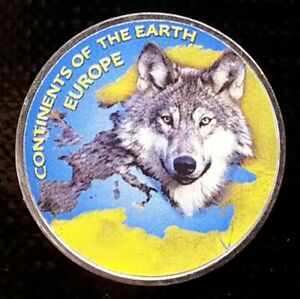 JAMMU & KASHMIR 1 RUPEE 2018 WOLF   CONTINENTS EUROPE UNUSUAL COIN
