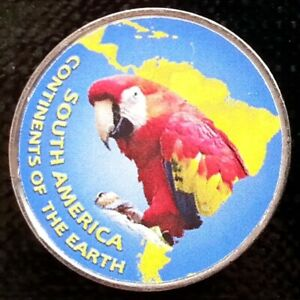 JAMMU & KASHMIR 1 RUPEE 2018 PARROT BIRD   CONTINENTS SOUTH AMERICA UNUSUAL COIN