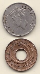 1949 1959   50 CENTS 1 CENT OSTAFRIKA S. TEXT   ORIGINALBILDER