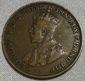 1916 AUSTRALIA ONE PENNY COIN