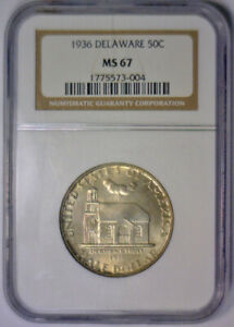 Click now to see the BUY IT NOW Price! 1936 DELAWARE SILVER COMMEMORATIVE HALF   NGC MS67 MS 67