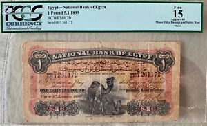 Click now to see the BUY IT NOW Price! BANK OF EGYPT PGCS15 ONE POUND 1899