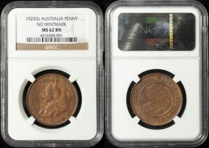 Click now to see the BUY IT NOW Price! AUSTRALIA 1920 NO DOTS PLAIN KGV INDIAN DIE PENNY NGC GRADED MS62 UNC CV $15 000