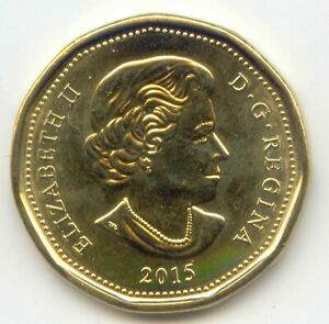 CANADA 2015 CANADIAN LOONIE UNC LOON ONE DOLLAR $1 1 EXACT COIN SHOWN