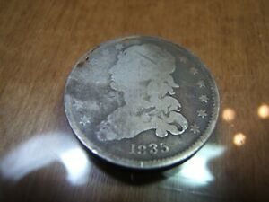 1835 SILVER BUST QUARTER G/VG  AFFORDABLE EARLY QUARTER