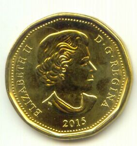 CANADA 2015 LOONIE CANADIAN 1 DOLLAR $ EXACT COIN SHOWN UNC