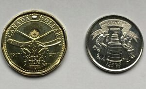 2017 STANLEY CUP 125TH   TORONTO MAPLE LEAFS 100TH CANADA COINS 25C   LOONIE UNC