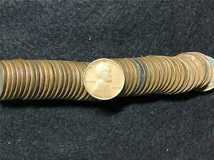 ROLL 50 WHEAT PENNIES PENNY LINCOLN CENTS COPPER 1940 CIRCULATED
