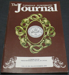THE CANADIAN NUMISMATIC JOURNAL 1978 COLONIAL CURRENCY PATTERNS OF 1823   MORE