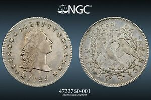 1795 $1 EARLY DOLLAR FLOWING HAIR 2 LEAVES    NGC XF 45 PQ
