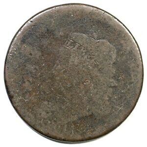 1814 S 294  STRUCK OFF CENTER  CLASSIC HEAD LARGE CENT COIN 1C