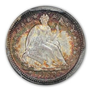 Click now to see the BUY IT NOW Price! 1853 H10C ARROWS LIBERTY SEATED HALF DIME PCGS MS67