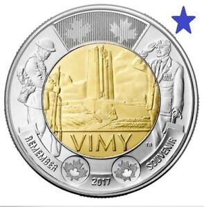 2017 CANADA 100TH ANNIVERSARY OF THE BATTLE OF VIMY RIDGE $2 CIRCULATION COIN