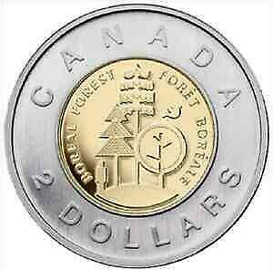 2011 CANADA BOREAL FOREST BU $2 TWO DOLLAR FROM ROLL   NO TAX