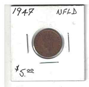 1947 NEWFOUNDLAND 1 CENT SMALL PENNY