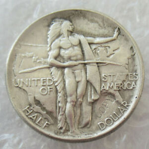 3 PCS USA 1926 S OREGON TRAIL MEMORIAL HALF DOLLARS SILVER PLATED MEDAL COINS