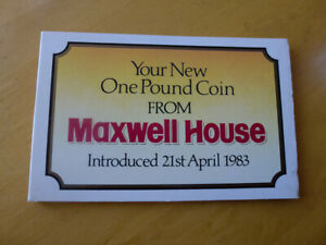 1983 UNCIRCULATED 1 COIN MAXWELL HOUSE PACK BU ROYAL MINT