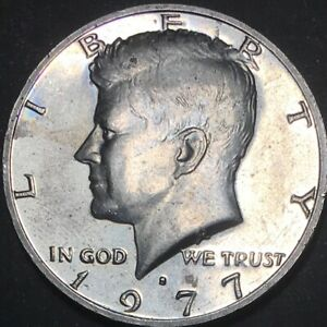 1977 S CLAD PR KENNEDY HALF DOLLAR IMPAIRED PROOF 50C