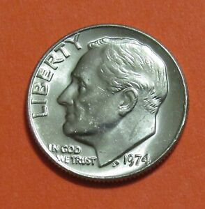 1974 10C ROOSEVELT DIME   UNCIRCULATED