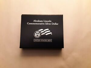 2009 ABRAHAM LINCOLN COMMEMORATIVE UNCIRCULATED SILVER DOLLAR WITH OGP